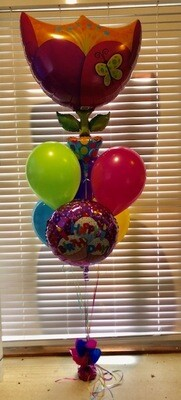 Supershape Balloon Bouquet with 1 Foil Balloon