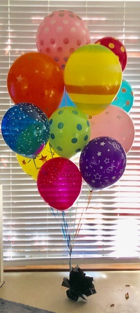 A Mega Dozen Balloon Bouquet