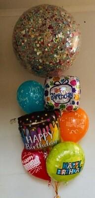 Jumbo Confetti Balloon Bouquet