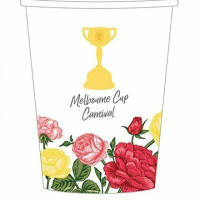 Melbourne Cup Paper Drinking 266ml Cup pack of 8
