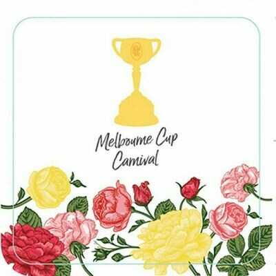 Melbourne Cup Paper Coasters pack of 6