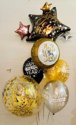 HNY Gold and Silver Bouquet