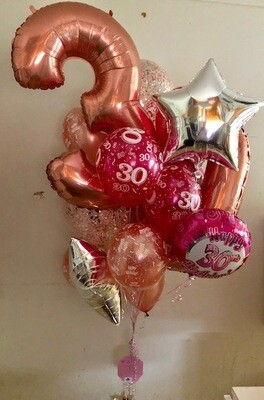 Assorted Balloon MegaBunch with 2 x 100cm numbers