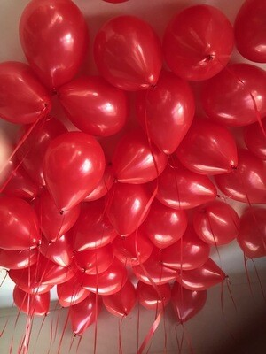 35 Red or Gold Ceiling balloons