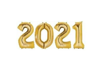 2021 Number Balloons (100cm)