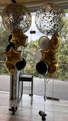 Jumbo Confetti Fathers Day Balloon Bouquet