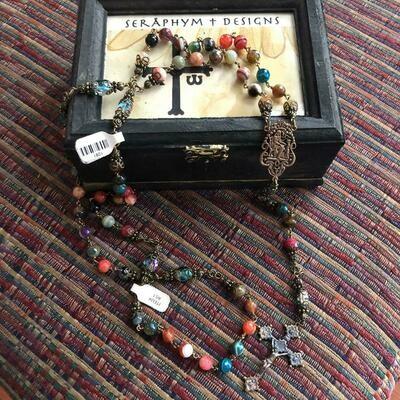 Multi color Agate Rosary