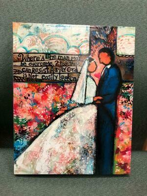 Ecclesiastes 4:12 Wood Wedding Plaque