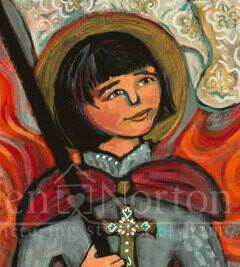 St. Joan of Arc Wood Block Plaque
