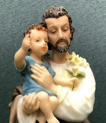 "St. Joseph & Baby Jesus 8"" Statue"