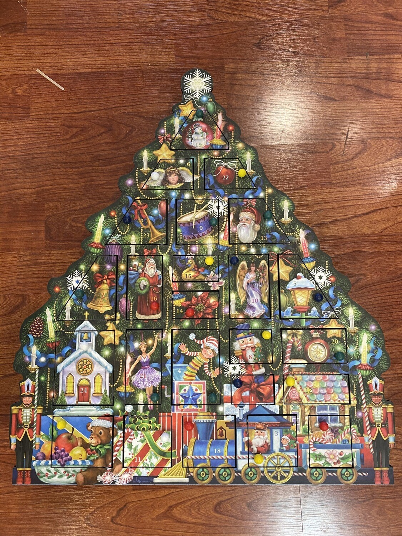 Christmas Tree Wooden Advent Calendar