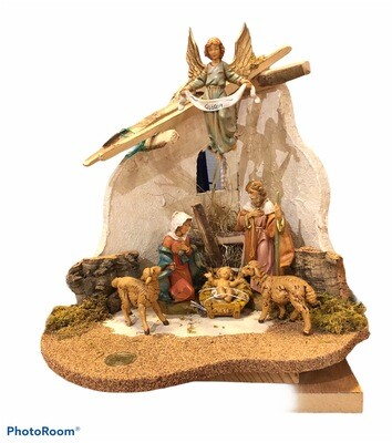 6 Piece Nativity Set With Stable Fontanini
