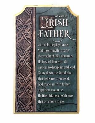 Irish Father Plaque