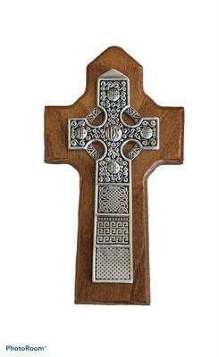 Walnut Pewter Celtic Cross