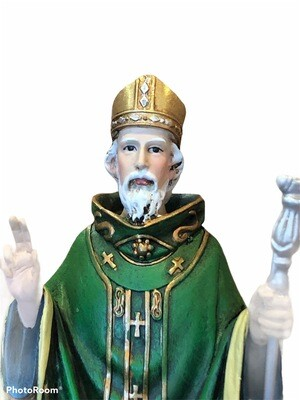 St. Patrick Color Statue