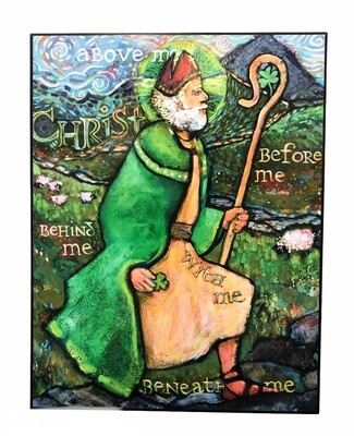St. Patrick Vibrant Color Wall Hanging