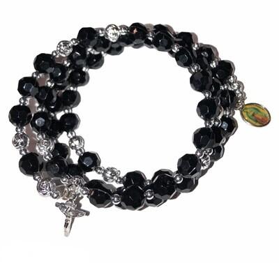 Crystal Rosary Wrap Bracelet