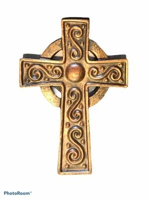 Celtic Scrolling Bronze Cross