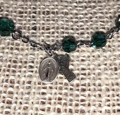 Irish Swarovski Crystal Bead Bracelet
