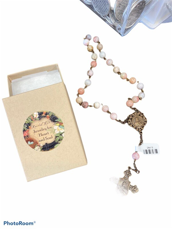 St. Therese Pink Opal Chaplet By Rachel Rove