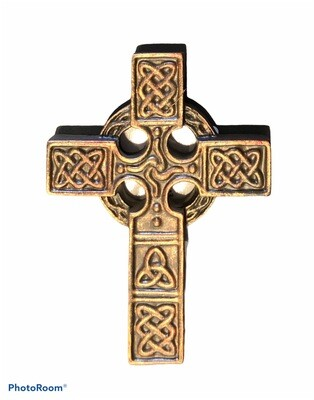 Celtic Bronze Scroll Cross