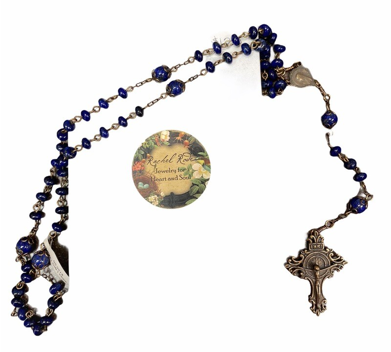 Ladies Lapis Lazuli Rosary