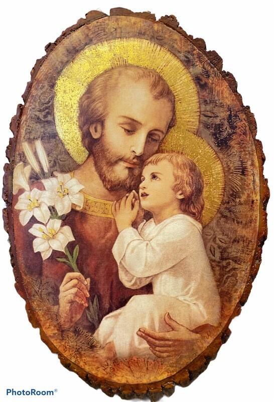 St. Joseph And Child Plaque