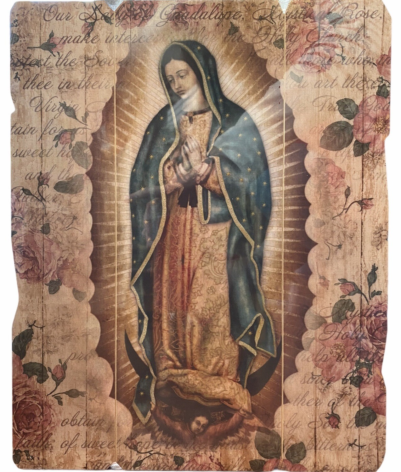Our Lady Of Guadalupe Barn Wood Wall Plaque