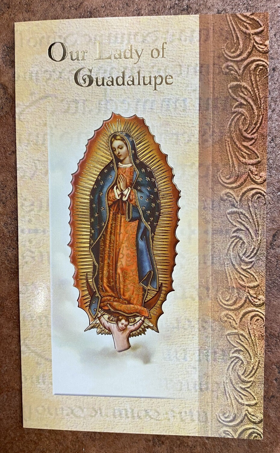 Our Lady Of Guadalupe Biography Prayer Card