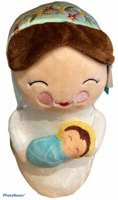 Mary And Baby Jesus Plush Doll