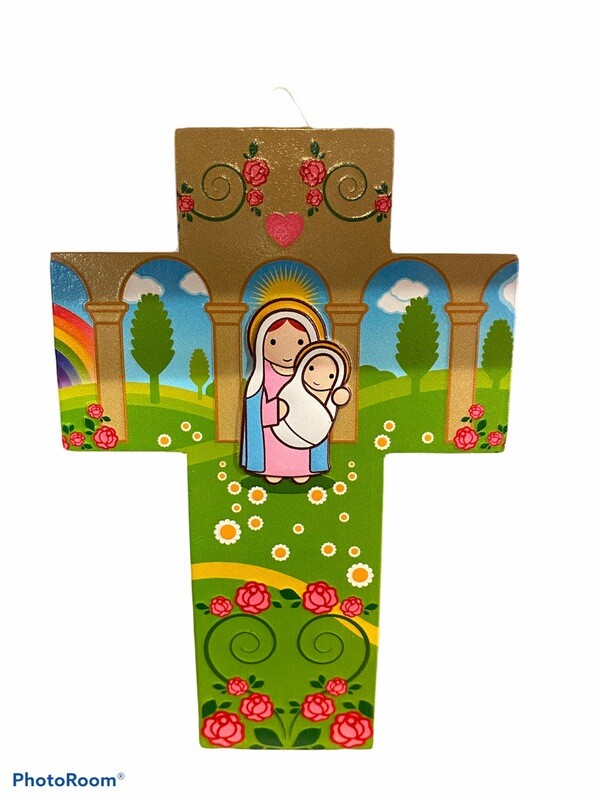 Madonna And Baby Jesus Wall Cross