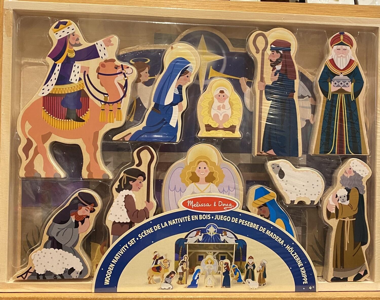 Wooden Nativity Set