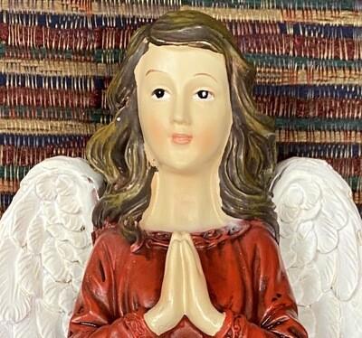 Red Praying Angel