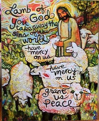 Lamb Of God Block Art