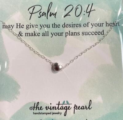 Psalm 20:4 Necklace