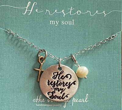 He Restores My Soul Necklace