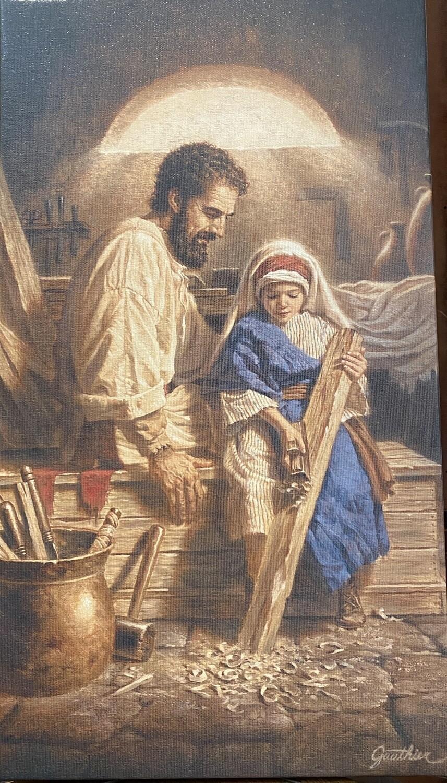 St. Joseph And Child Jesus Canvas