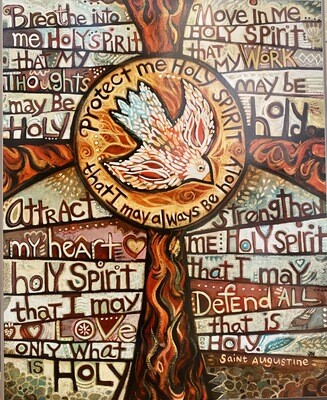 Holy Spirit Art Plaque