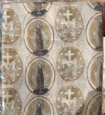 Miraculous Medal Scarf Natural