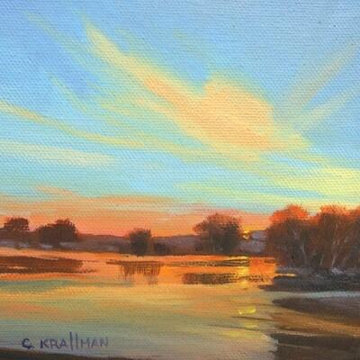 Sunset at Longview Lake