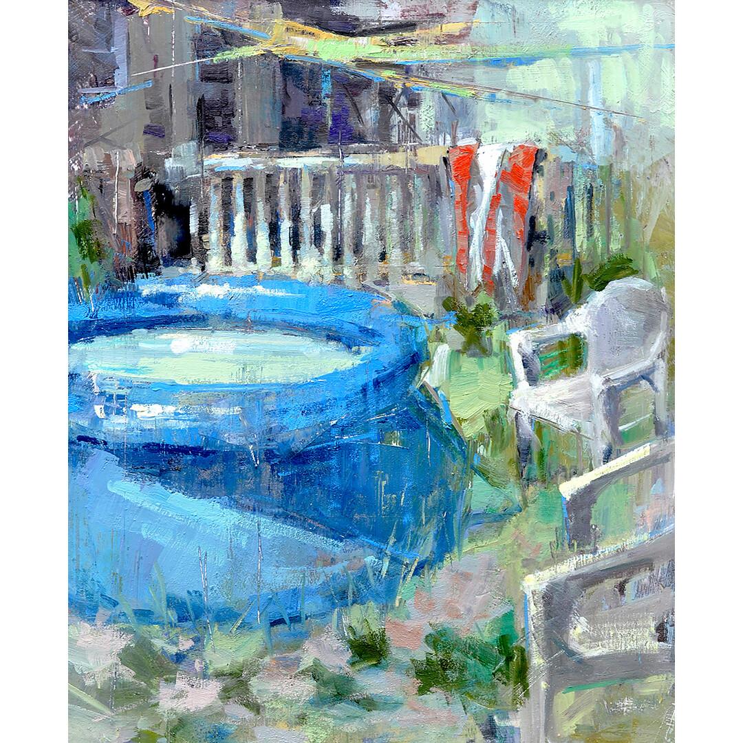 Backyard Summer by Lon Brauer