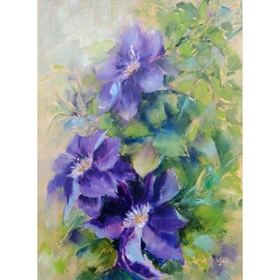 ​Purple Clematis by Sandy Braga