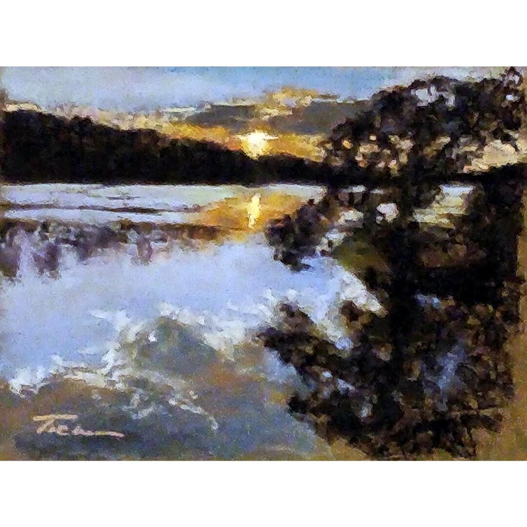 Lake Olathe Sunset by Jill Tichenor