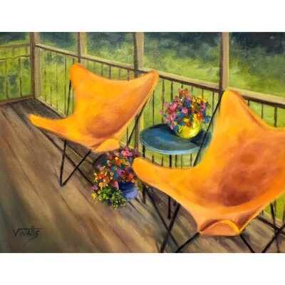 ​Orange on the Porch by Vicki Watts