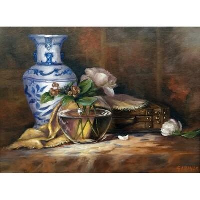 Blue Vase with Peony