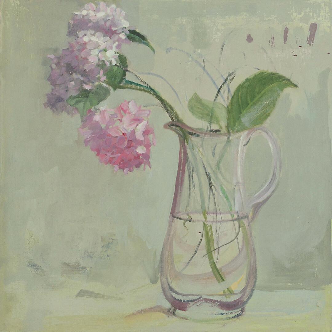Hydrangea With Three Strokes by Jane Barrow