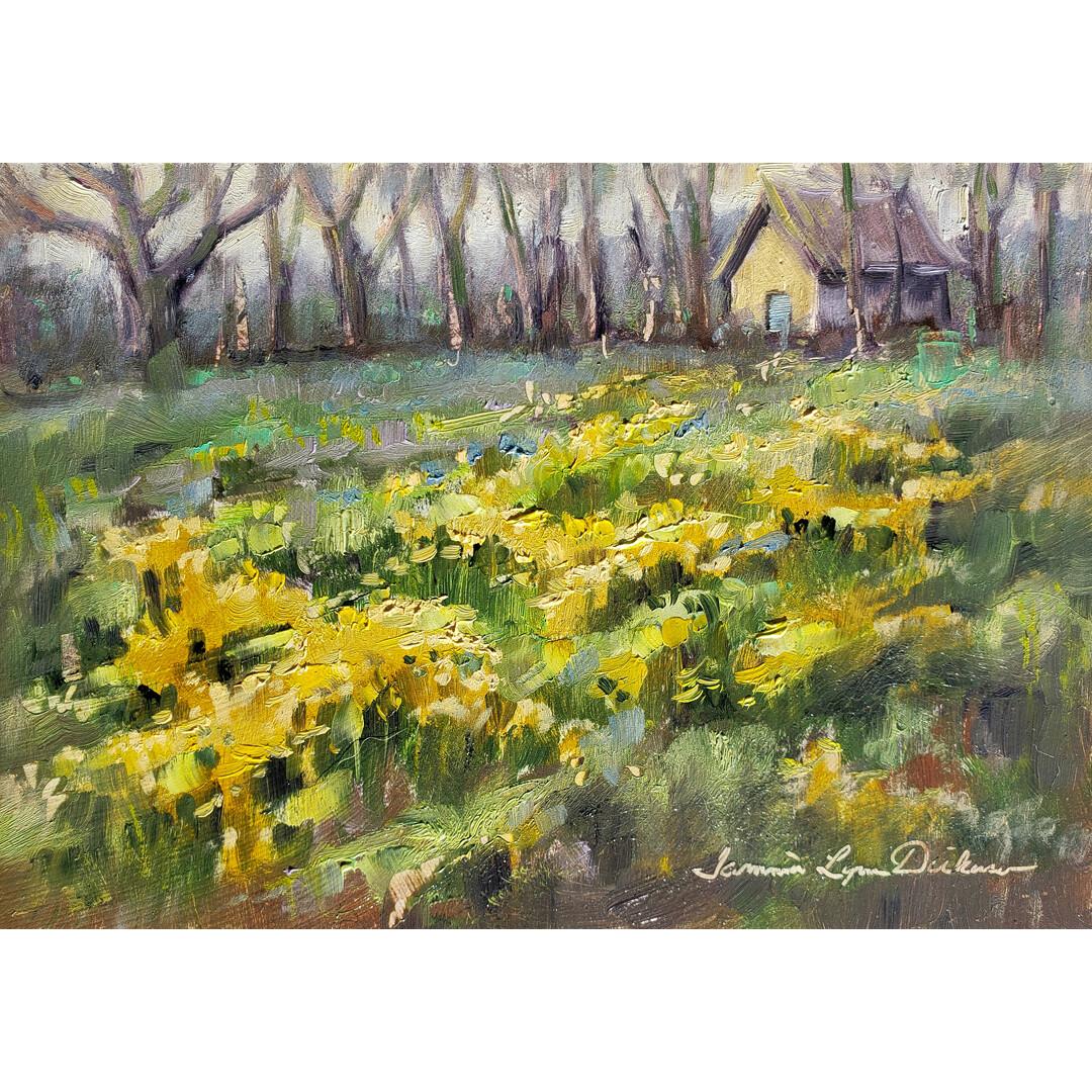 Wild Mustard in Bloom by Tammie Dickerson