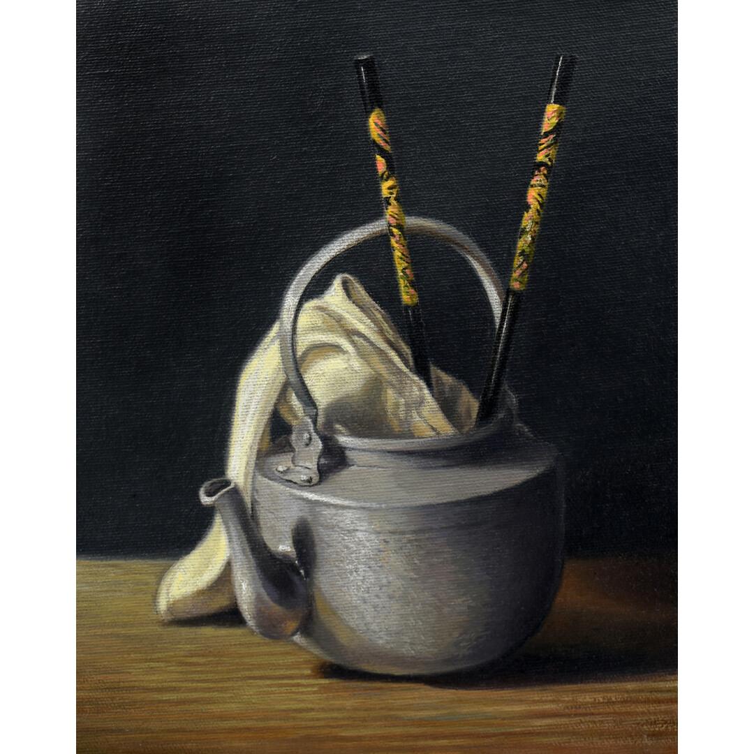 Japanese Teapot with Chopsticks by Jim Serrett