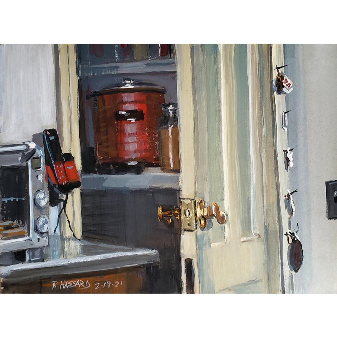 The Basement Door is Ajar by Ray Hassard