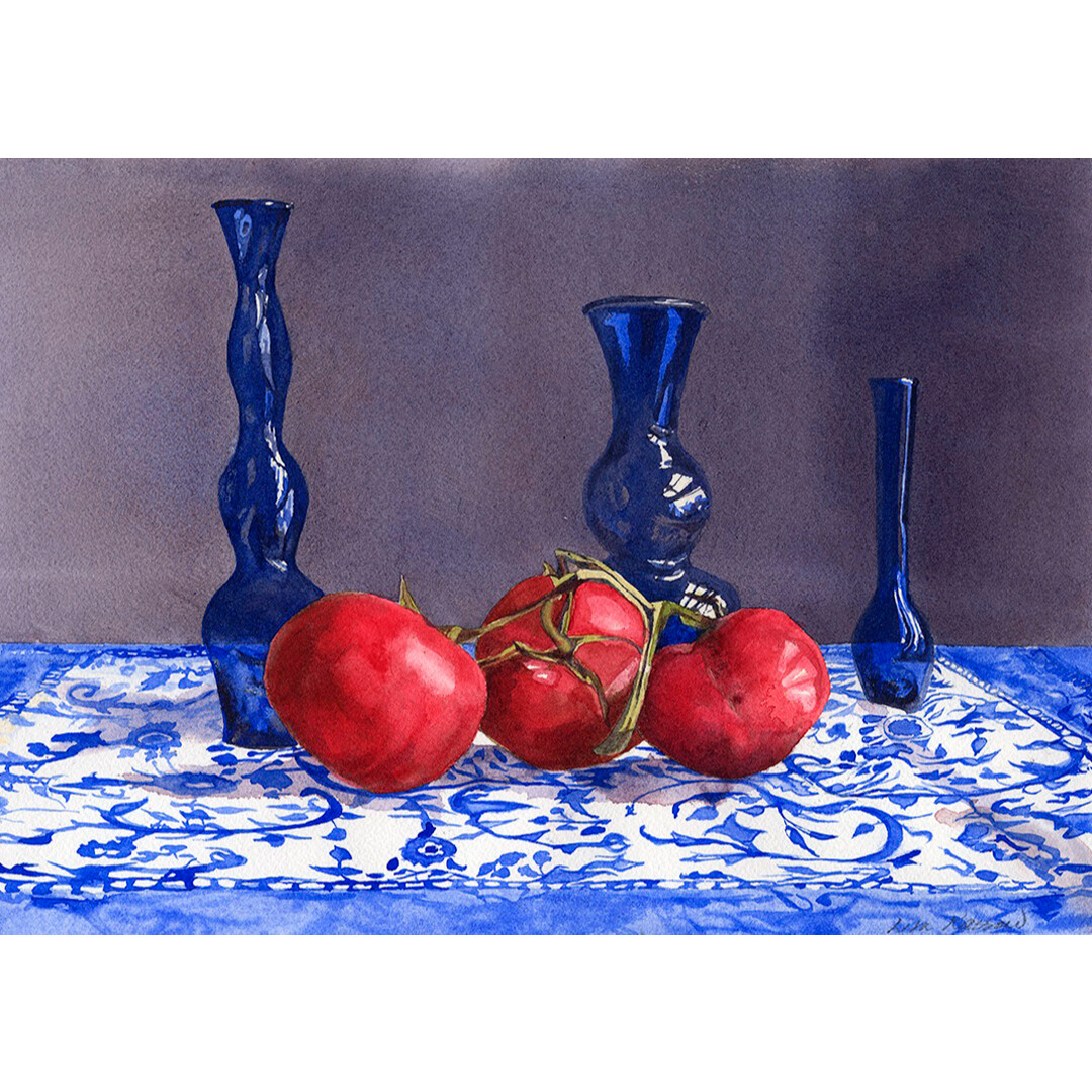 Tomato Cluster and Hebron Glass by Lisa Kassow